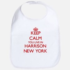 Keep calm you live in Harrison New York Bib