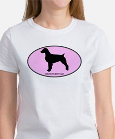 American Brittany (oval-pink) Women's T-Shirt