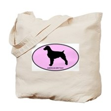 American Brittany (oval-pink) Tote Bag