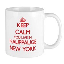 Keep calm you live in Hauppauge New York Mugs