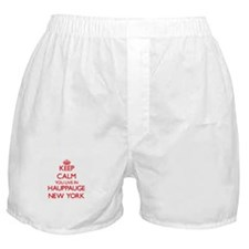 Keep calm you live in Hauppauge New Y Boxer Shorts