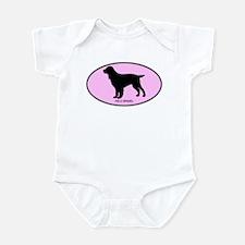 Field Spaniel (oval-pink) Infant Bodysuit
