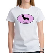 Rat Terrier (oval-pink) Tee