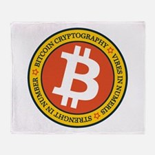 Full Color Bitcoin Logo with Motto Throw Blanket