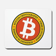 Full Color Bitcoin Logo with Motto Mousepad