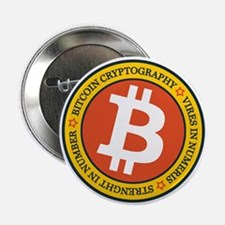 """Full Color Bitcoin Logo wit 2.25"""" Button (10 pack)"""