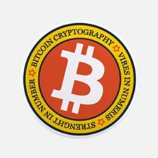 "Full Color Bitcoin Logo wit 3.5"" Button (100 pack)"