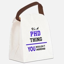 Cute Phd Canvas Lunch Bag