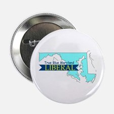 "2.25"" Button (10 pack) True Blue Maryland LIBERAL"