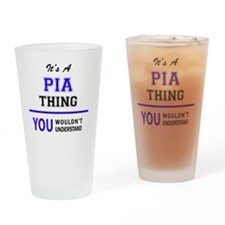Cute Pia Drinking Glass