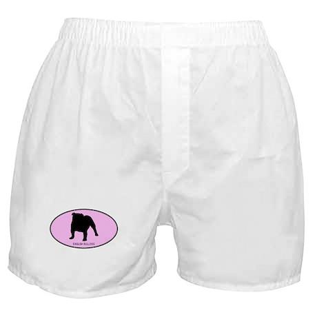 English Bulldog (oval-pink) Boxer Shorts
