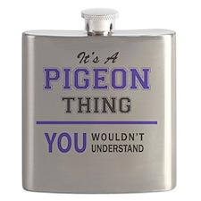 Cute Pigeon Flask