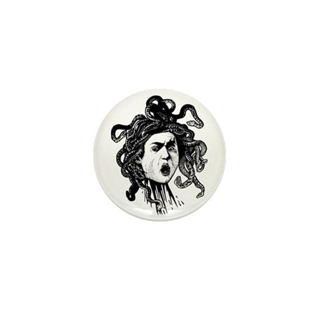 Greek Gorgon Medusa Mini Button
