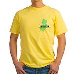True Blue New Jersey LIBERAL - Yellow T-Shirt