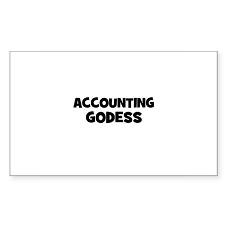 accounting Godess Rectangle Sticker