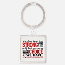Aplastic Anemia HowStrongWeAre Square Keychain