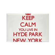 Keep calm you live in Hyde Park New York Magnets