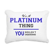 Unique Platinum Rectangular Canvas Pillow