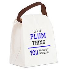 Unique Plum Canvas Lunch Bag