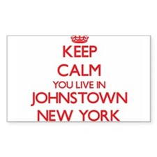 Keep calm you live in Johnstown New York Decal