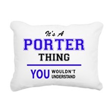 Cute Porter Rectangular Canvas Pillow