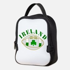 Ireland style rugby ball Neoprene Lunch Bag