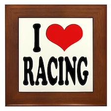 I Love Racing Framed Tile
