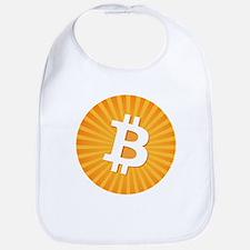 Bitcoin Logo Starburst Bib