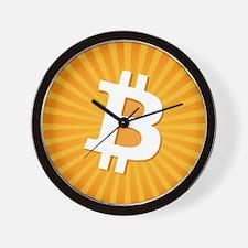 Bitcoin Logo Starburst Wall Clock