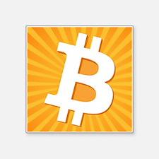 Bitcoin Logo Starburst Sticker