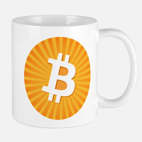 Bitcoin Logo Starburst Mugs