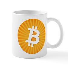 Bitcoin Logo Starburst Mugs