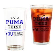 Cute Puma Drinking Glass