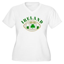 Ireland style rugby ball Plus Size T-Shirt