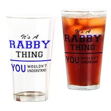 Funny Rabbi Drinking Glass
