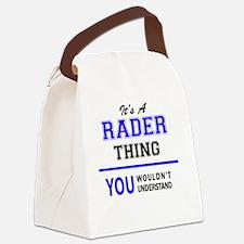 Unique Rader Canvas Lunch Bag