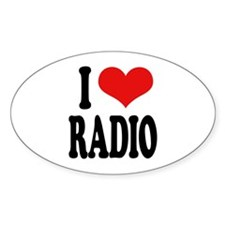 I Love Radio Oval Decal