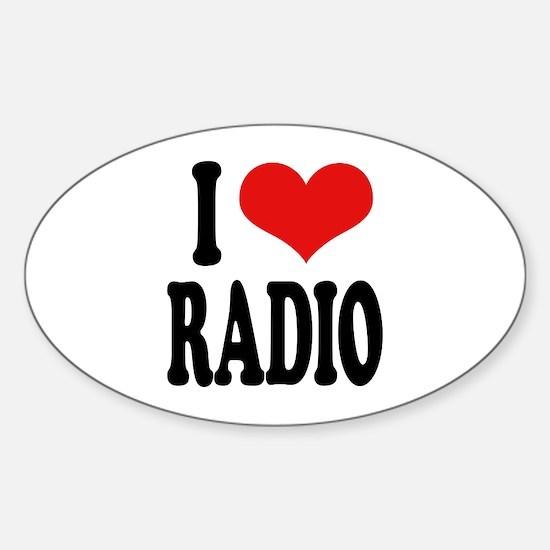 I Love Radio Oval Decal