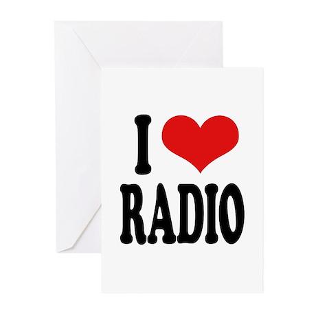 I Love Radio Greeting Cards (Pk of 10)