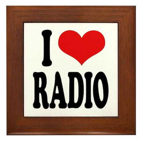 I Love Radio Framed Tile