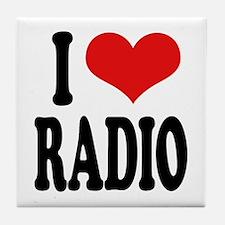 I Love Radio Tile Coaster