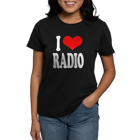 I Love Radio Women's Dark T-Shirt