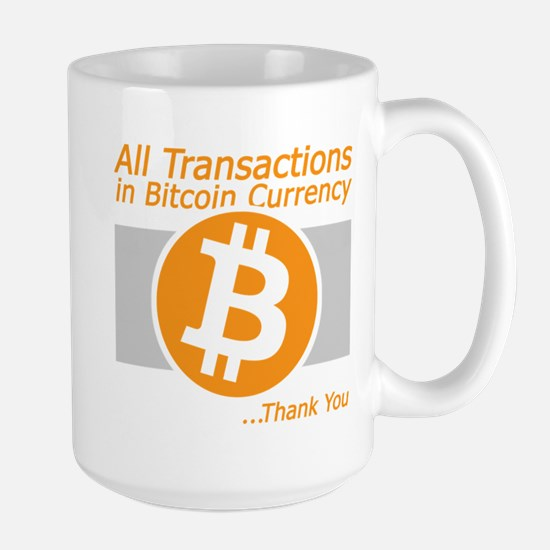 All Transactions in Bitcoin Currency Mugs