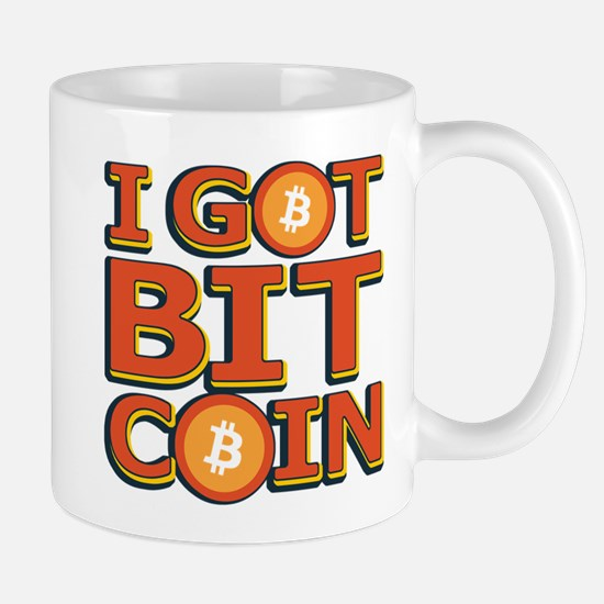 I Got Bitcoin Large Text Mugs