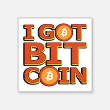 I Got Bitcoin Large Text Sticker