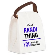 Funny Randy Canvas Lunch Bag