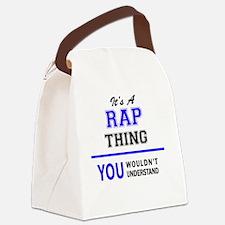 Cute Rapper Canvas Lunch Bag