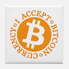 Type 2 I Accept Bitcoin Tile Coaster