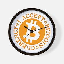Type 2 I Accept Bitcoin Wall Clock