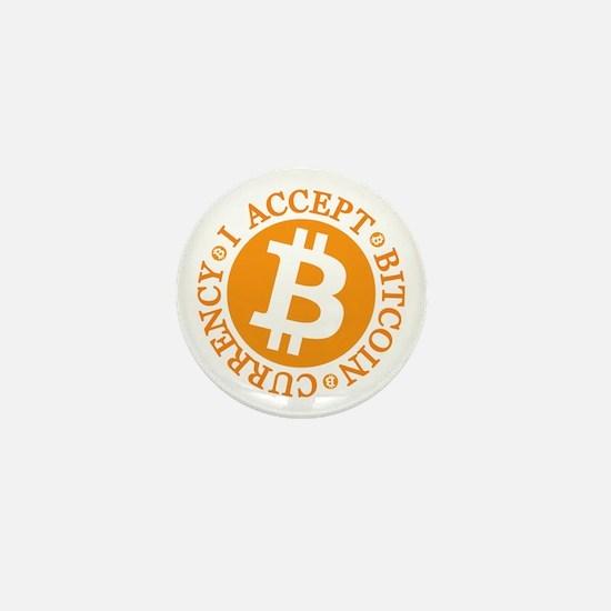 Type 2 I Accept Bitcoin Mini Button
